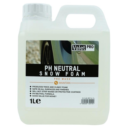 ValetPRO PH Neutral Snow Foam 1Liter