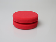 Buff and Shine - Round RED Foam Puck Applicator mit...